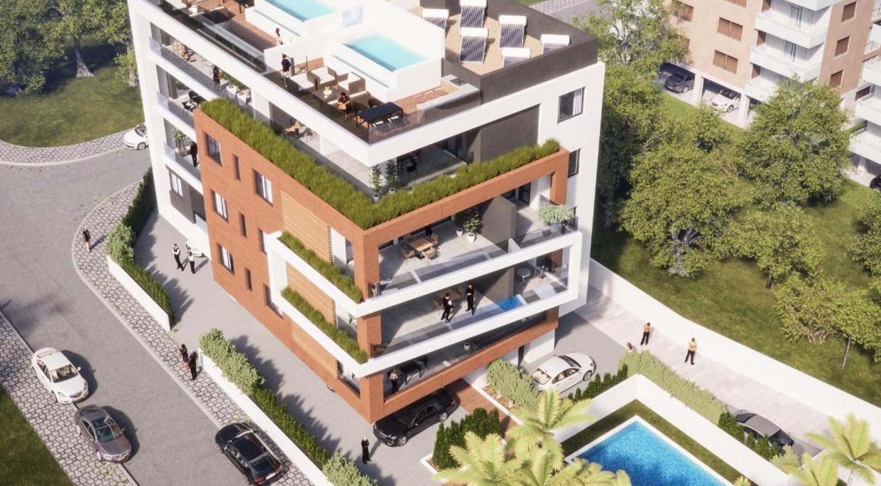 Malibu Residence. Contemporary 2 Bedroom Apartment 201 in Potamos Germasogeia - 3