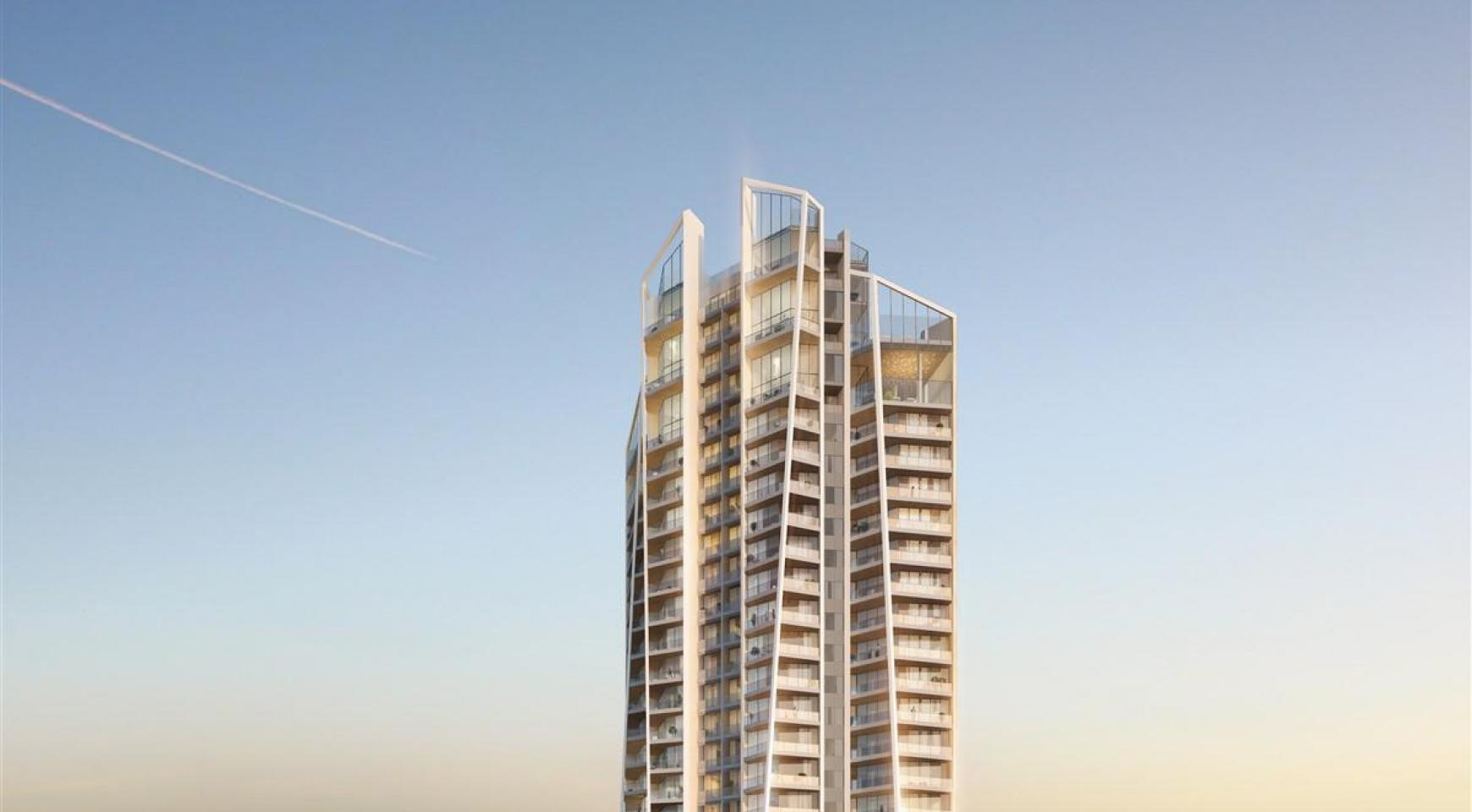 Sky Tower. Μοντέρνο ευρύχωρο διαμέρισμα ενός υπνοδωματίου με θέα στην θάλασσα - 4