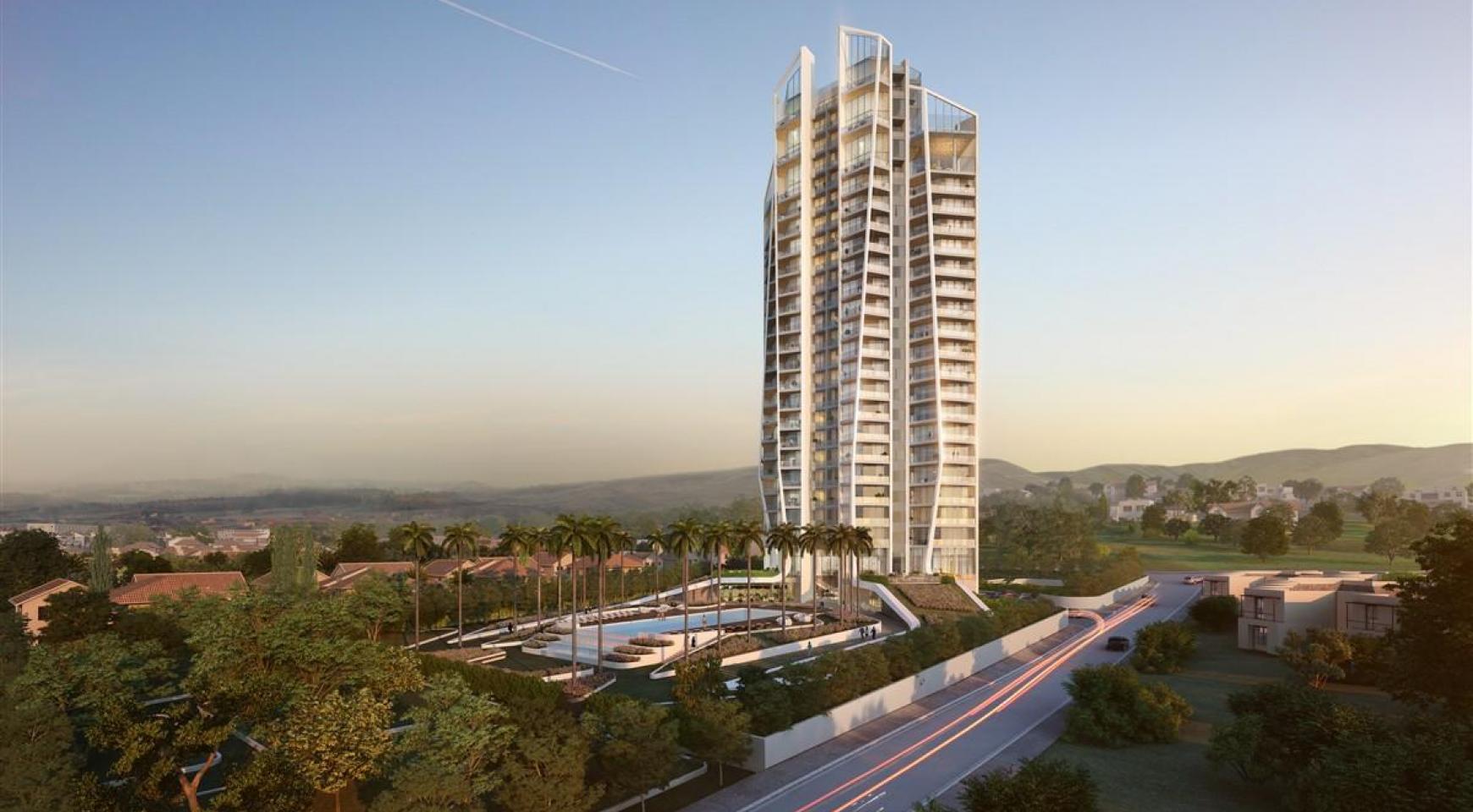 Sky Tower. Μοντέρνο ευρύχωρο διαμέρισμα ενός υπνοδωματίου με θέα στην θάλασσα - 2