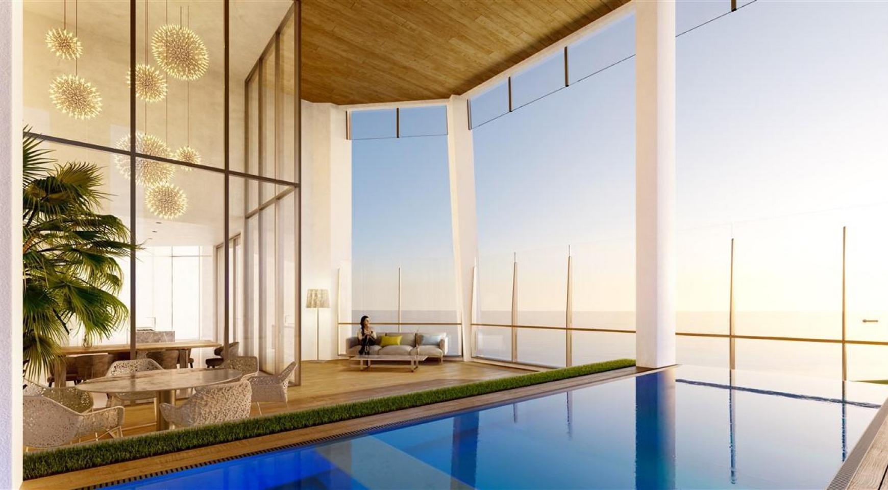 Sky Tower. Μοντέρνο ευρύχωρο διαμέρισμα ενός υπνοδωματίου με θέα στην θάλασσα - 1