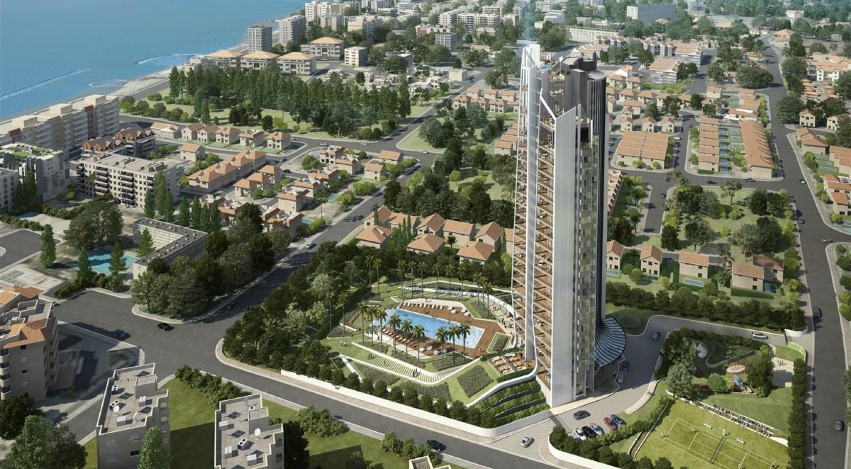 Sky Tower. Μοντέρνο ευρύχωρο διαμέρισμα ενός υπνοδωματίου με θέα στην θάλασσα - 7