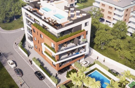 Malibu Residence. Πολυτελές ρετιρέ 3 υπνοδωματίων  402 με ιδιωτική πισίνα
