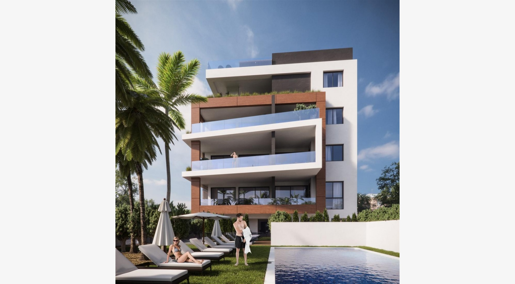 Malibu Residence. Modern 2 Bedroom Apartment 301 within a New Gated Complex - 4