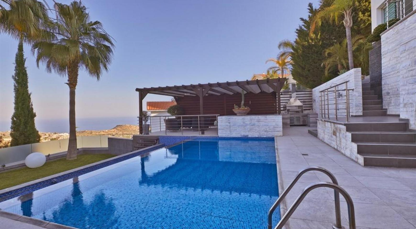 Elite 5 Bedroom Villa with Amazing Sea and Mountain Views in Agios Tychonas Area  - 1
