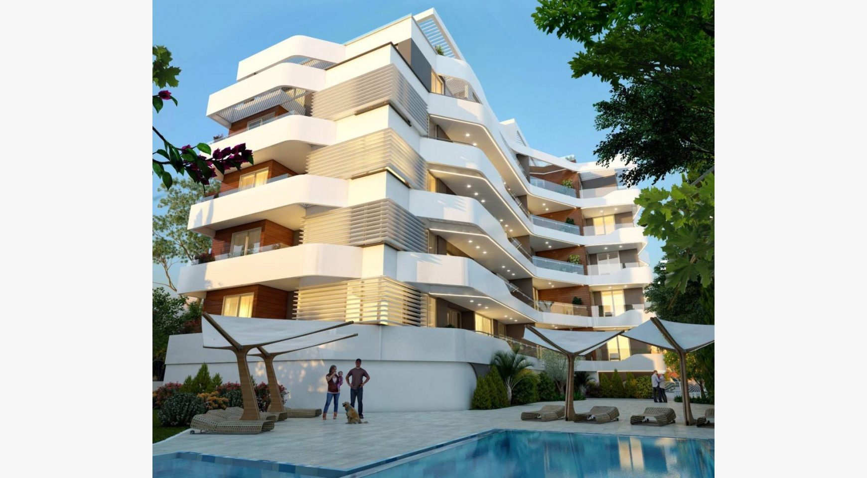 New 2 Bedroom Apartment in a Contemporary Complex near the Sea - 3