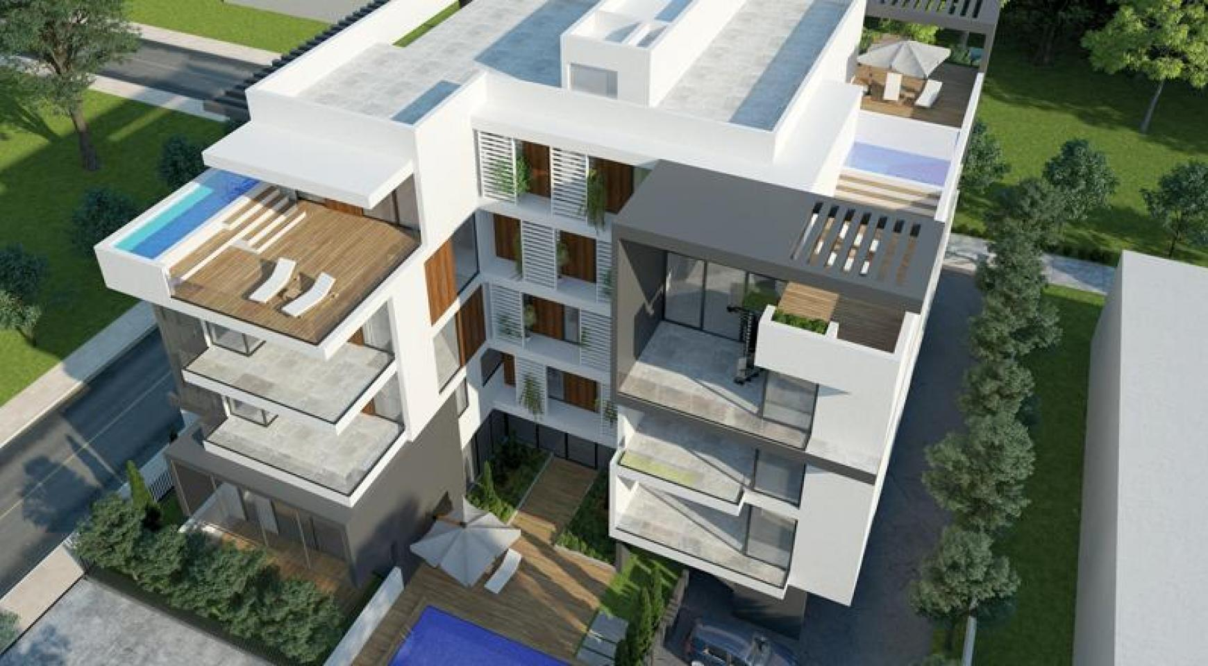 New 2 Bedroom Apartment with Roof Garden in a Contemporary Complex  - 1