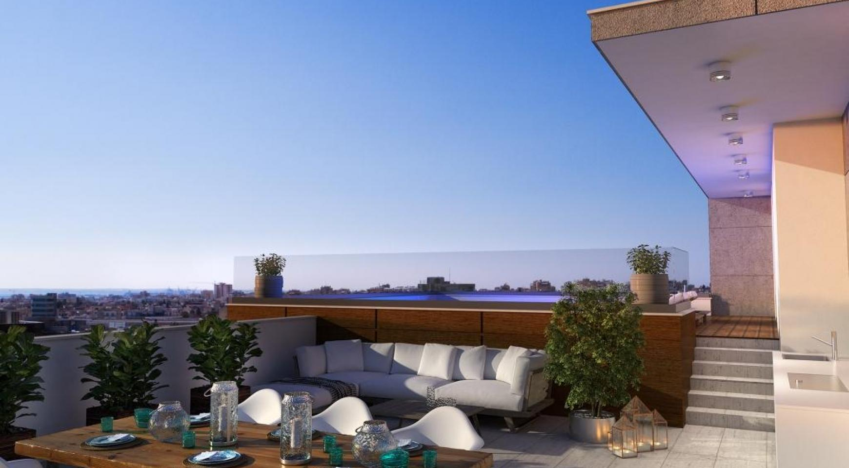 New 3 Bedroom Penthouse with the Swimming Pool  - 12