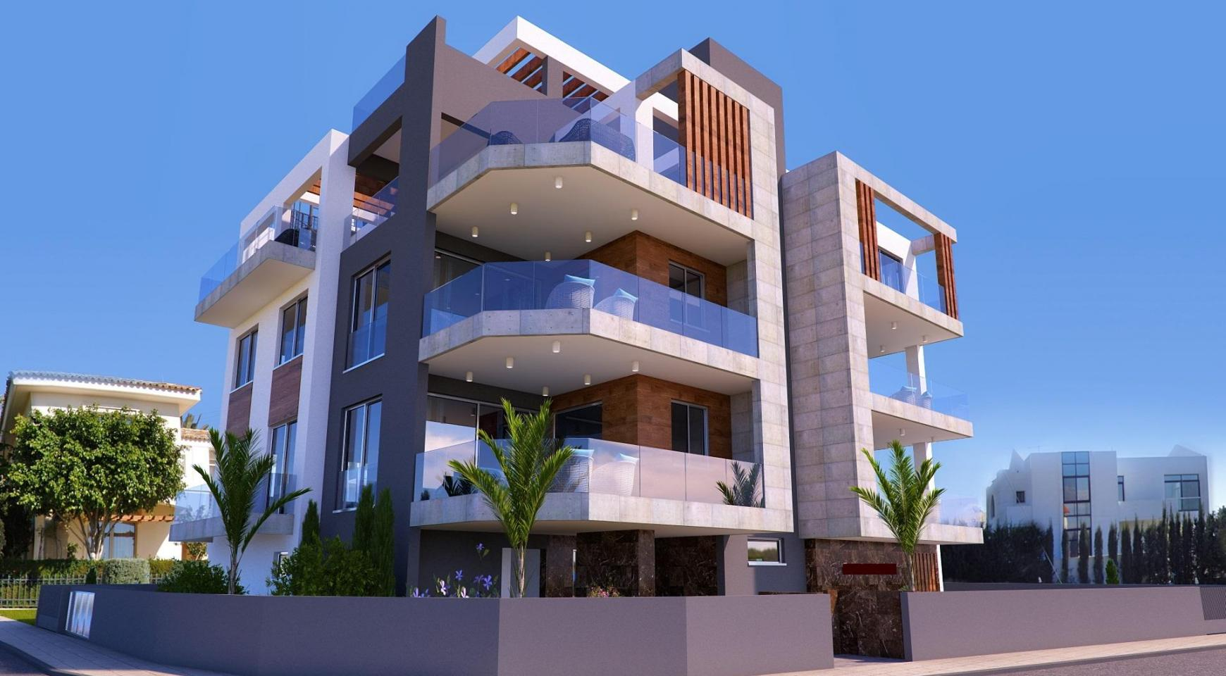 New 2 Bedroom Apartment in a Contemporary Building in Potamos Germasogeia - 1
