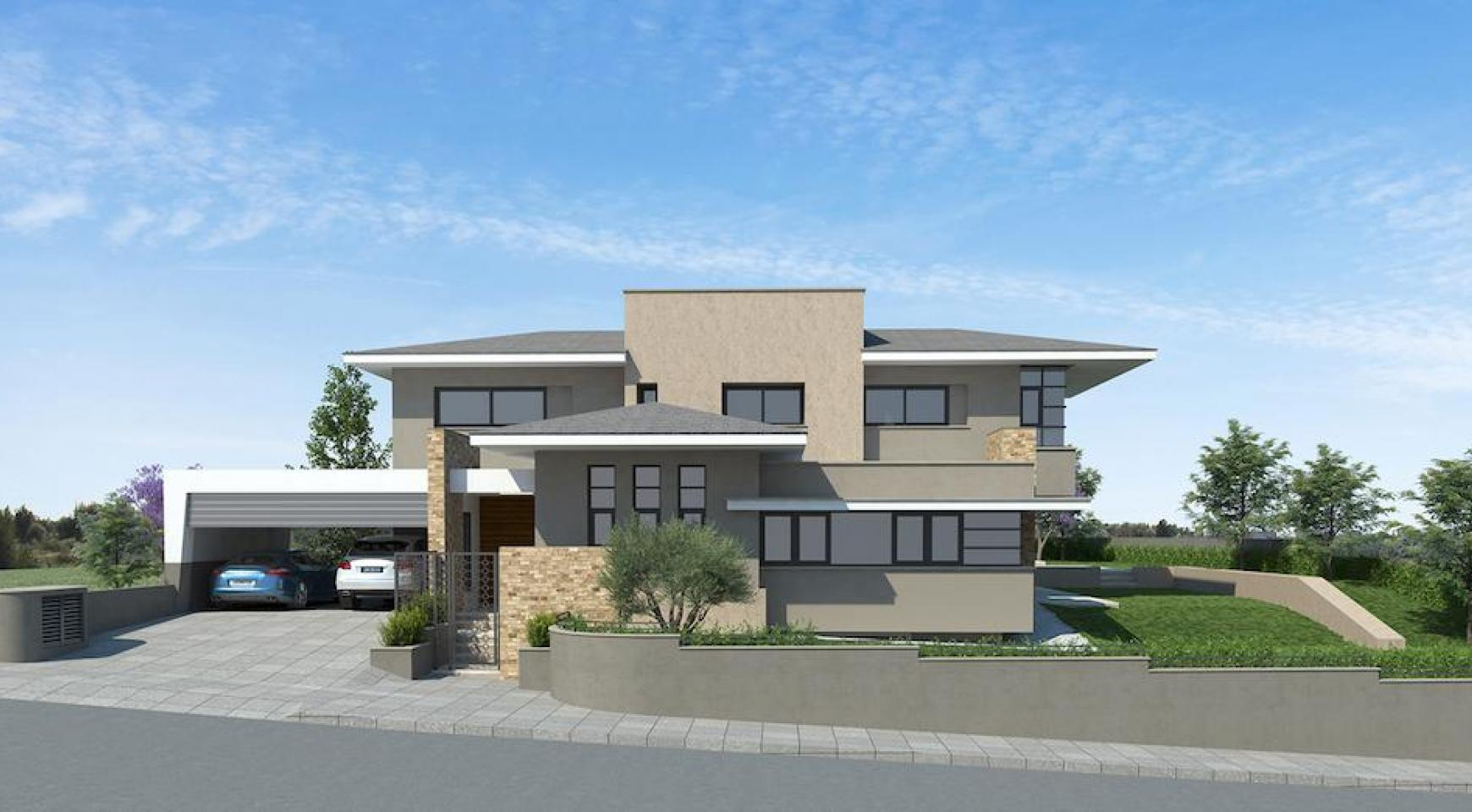 New Luxurious 4 Bedroom Villa With Sea Views in Messovounia - 3