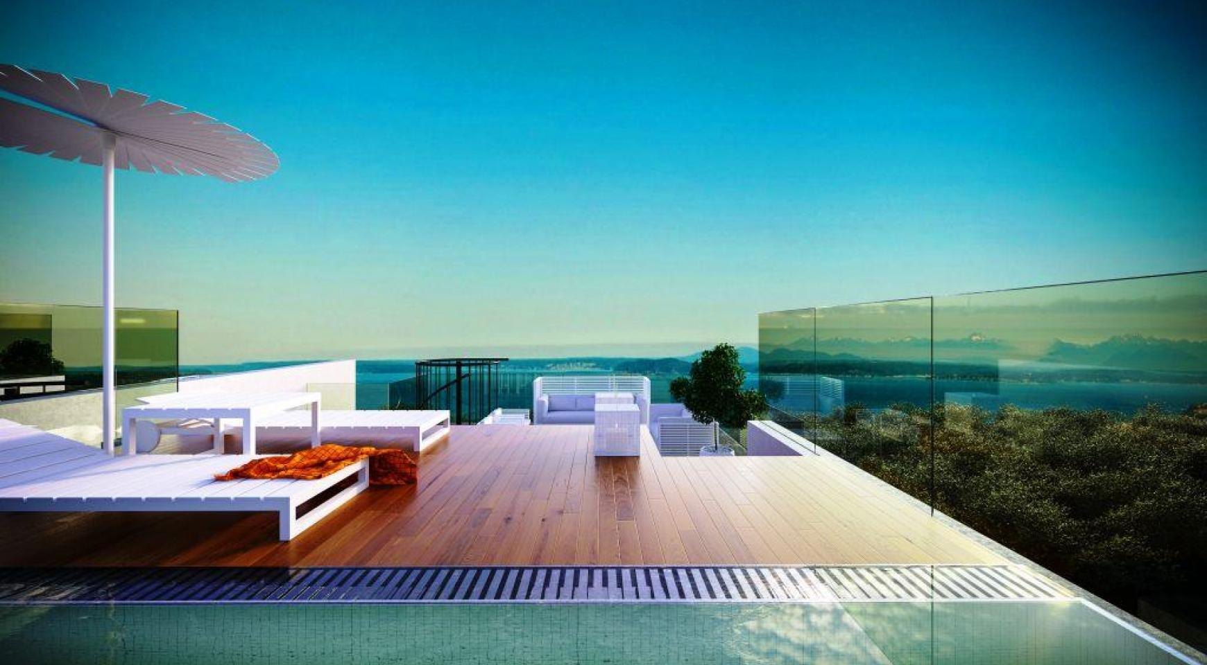 Contemporary 3 Bedroom Penthouse with a Private Swimming Pool - 1