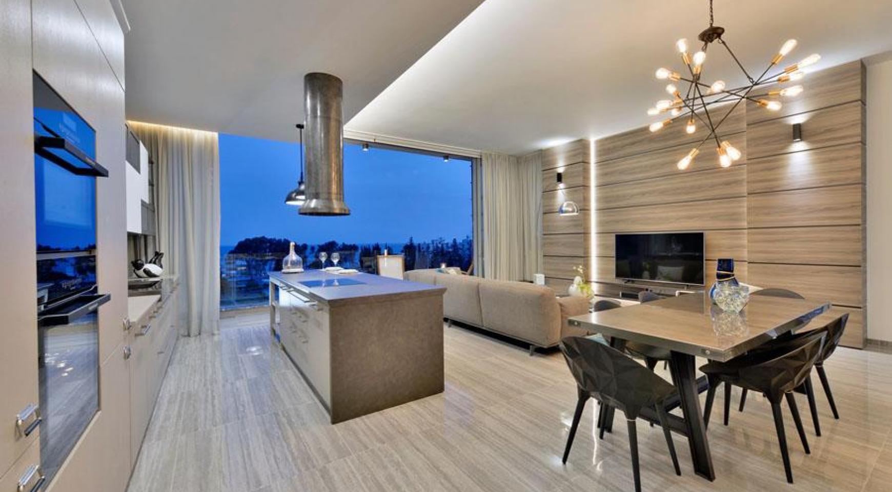 Πολυτελές διαμέρισμα 2 υπνοδωματίων με ταράτσα στο νεόδμητο συγκρότημα - 14