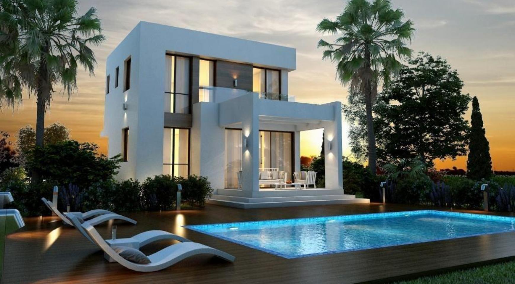 Modern 3 Bedroom Villa in a Complex near the Beach - 2