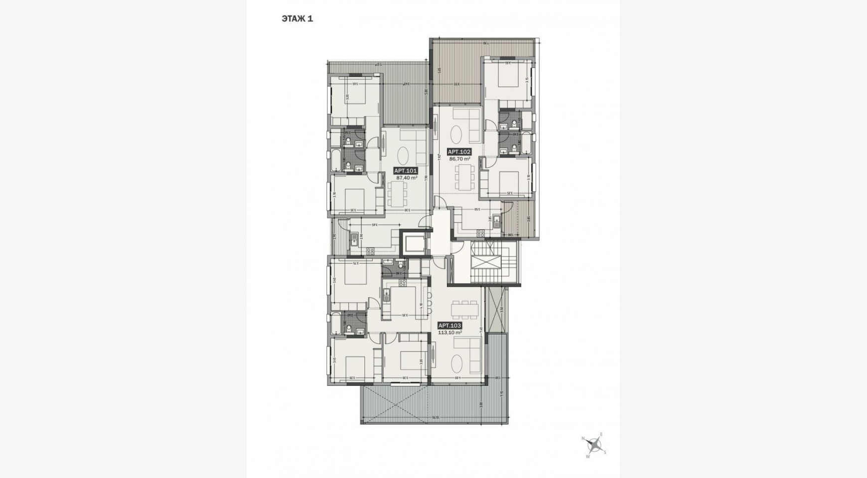 Hortensia Residence, Apt. 103. 3 Bedroom Apartment within a New Complex near the Sea  - 65