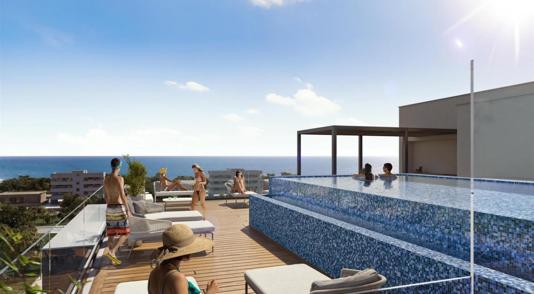 Hortensia Residence. Luxury 3 Bedroom Apartment 303 near the Sea - 4