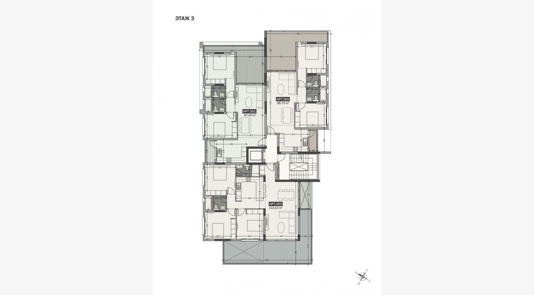 Hortensia Residence, Apt. 302. 2 Bedroom Apartment within a New Complex near the Sea  - 64