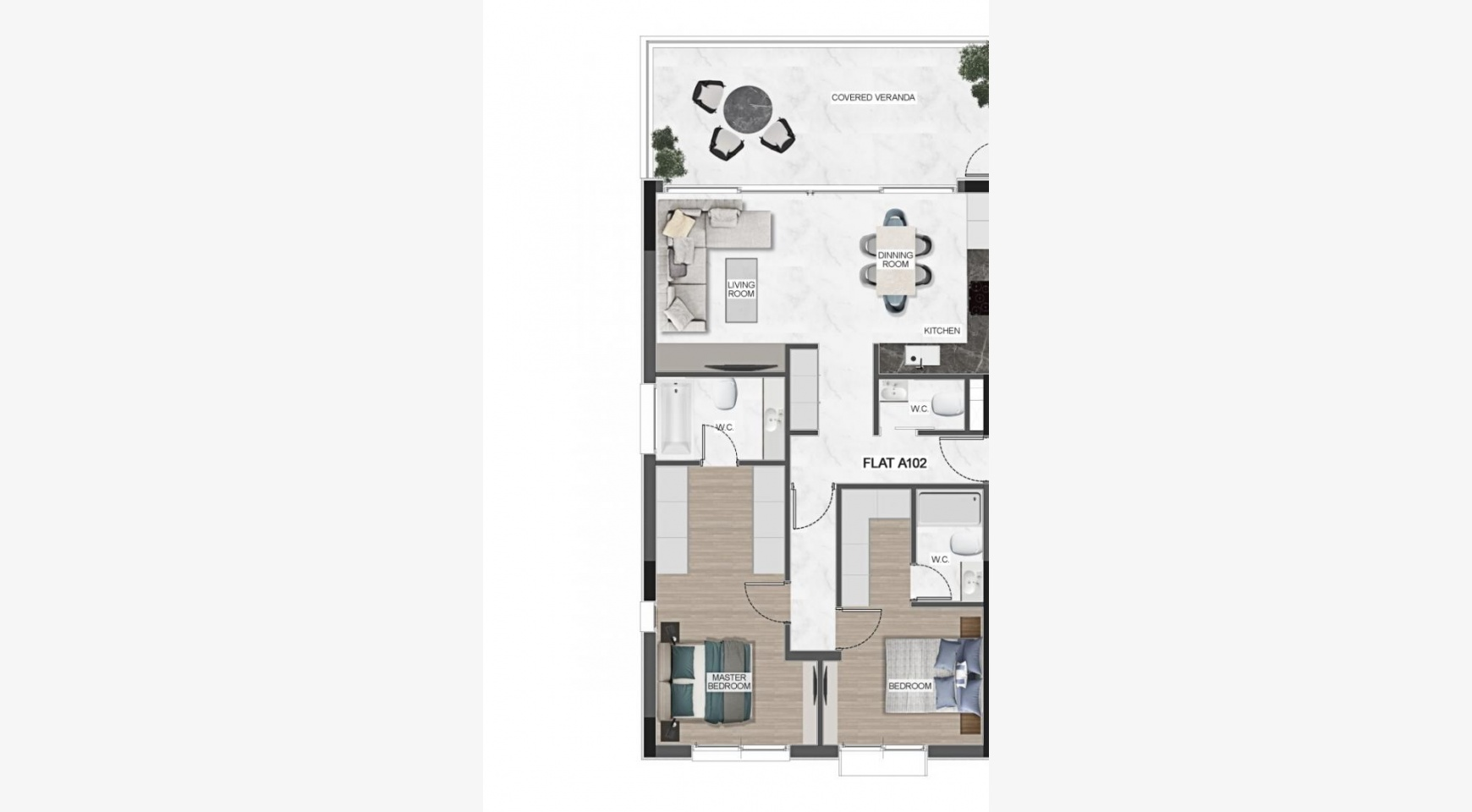 Urban City Residences, Block A. New Spacious 3 Bedroom Apartment 201 in the City Centre - 43