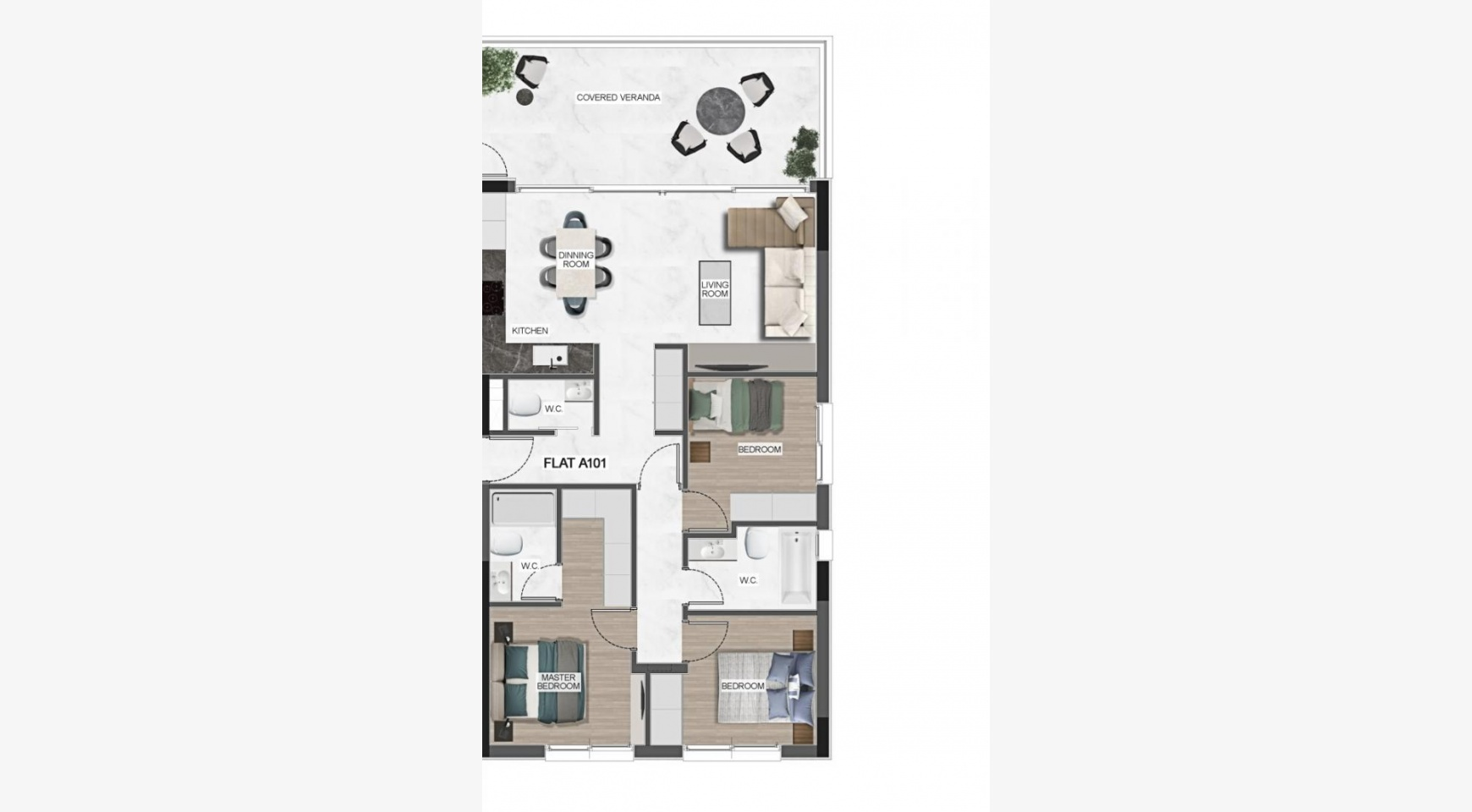 Urban City Residences, Block A. New Spacious 3 Bedroom Apartment 201 in the City Centre - 42