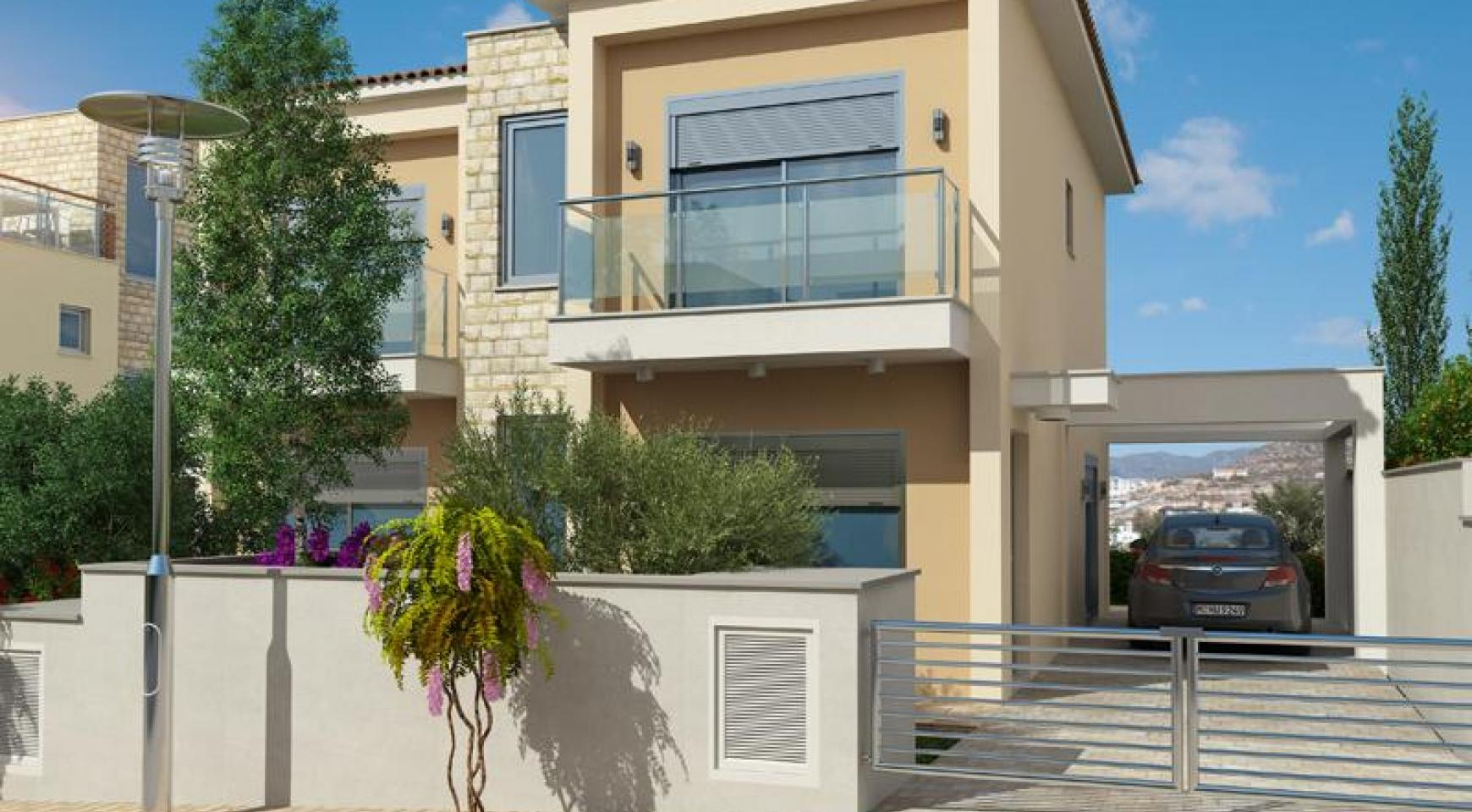 Modern 2 Bedroom House with Sea and Mountain Views in Mesovounia - 3