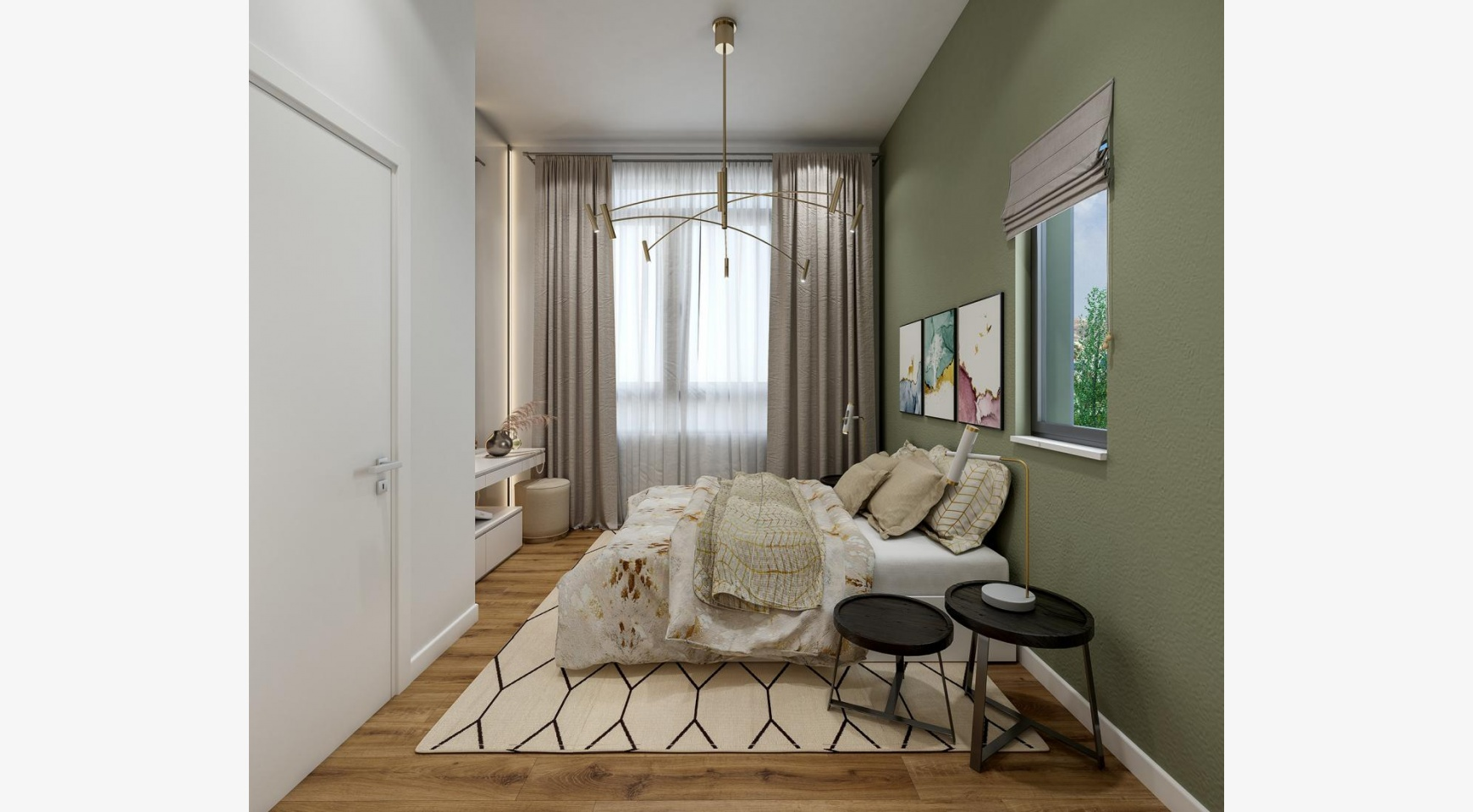 Urban City Residences, Block B. New Spacious 2 Bedroom Apartment 202 in the City Centre - 5