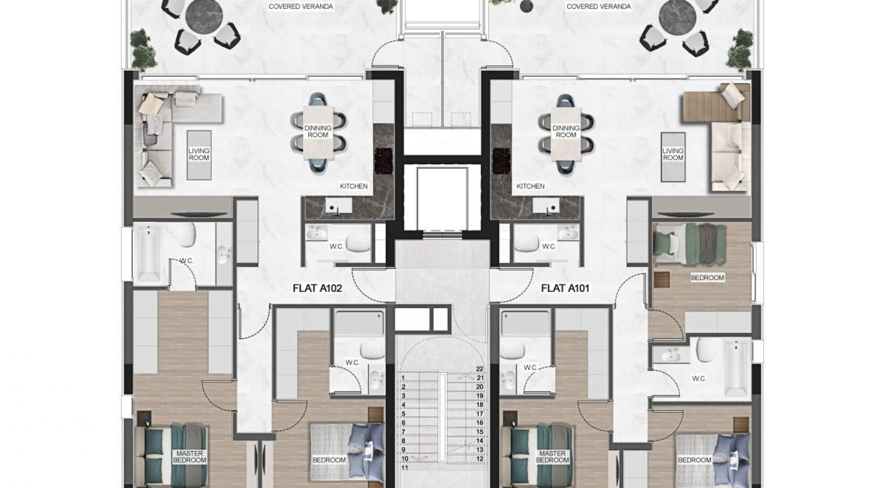 Urban City Residences, Apt. B 402. 2 Bedroom Apartment within a New Complex in the City Centre - 42