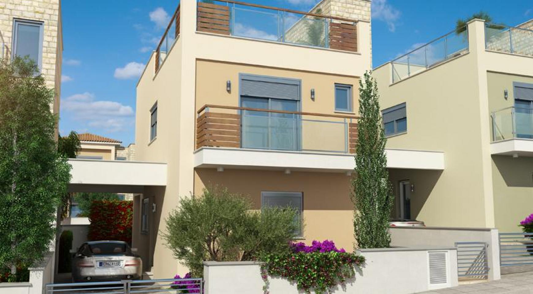 Spacious 2 Bedroom House with Sea and Mountain Views in Mesovounia - 1