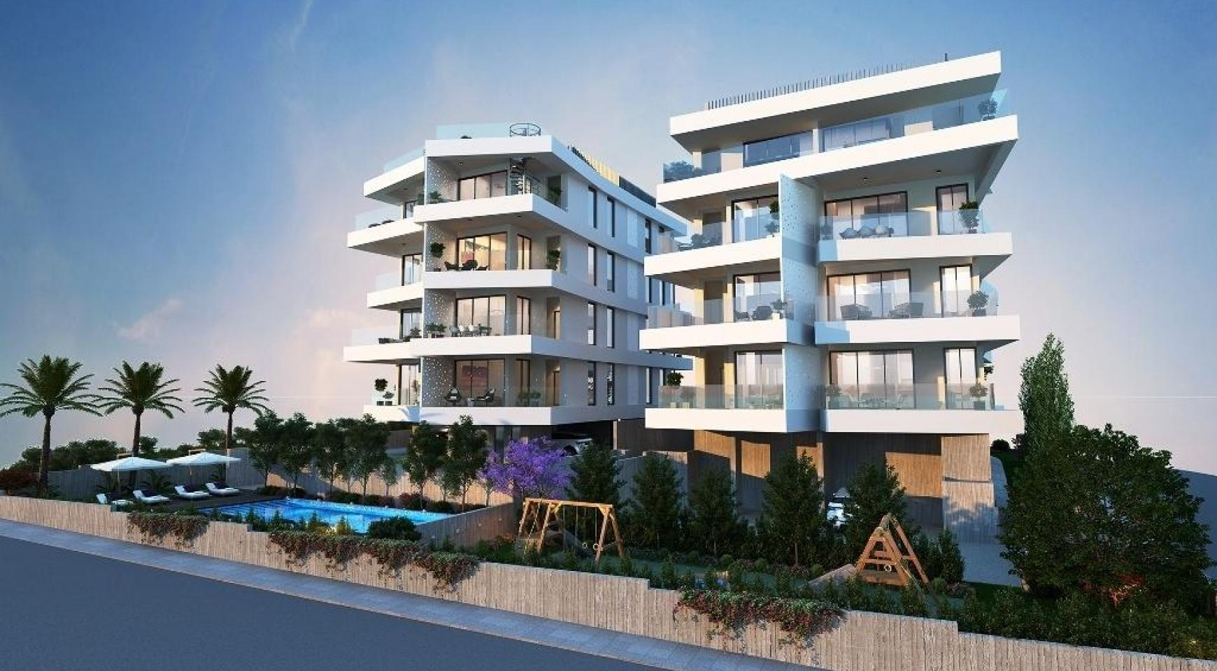 New 3 Bedroom Apartment in a Contemporary Building in Germasogeia - 7
