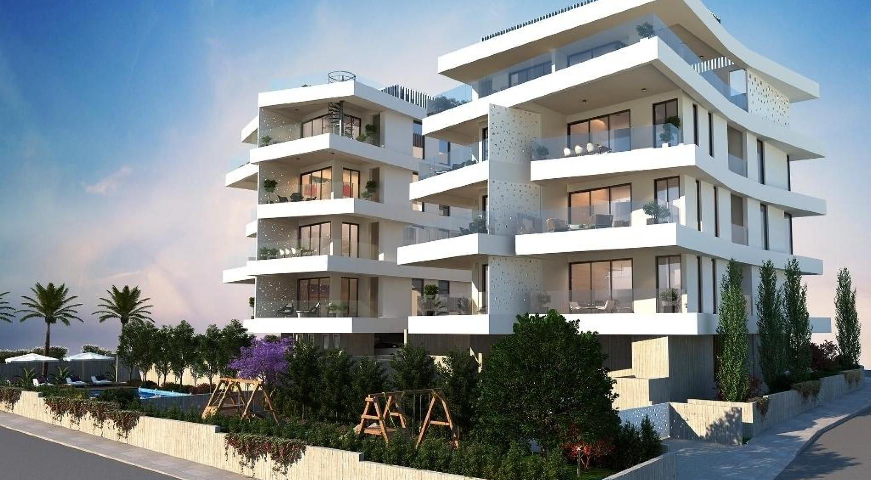 New 3 Bedroom Apartment in a Contemporary Building in Germasogeia - 6