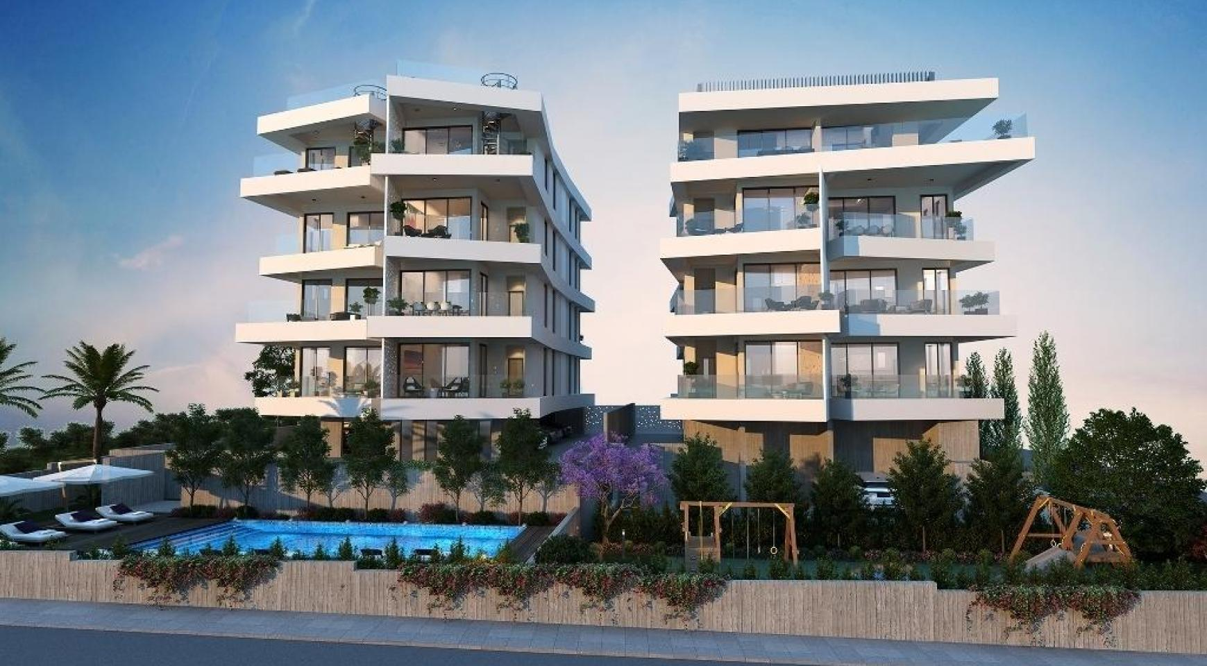 New 3 Bedroom Apartment in a Contemporary Building in Germasogeia - 4