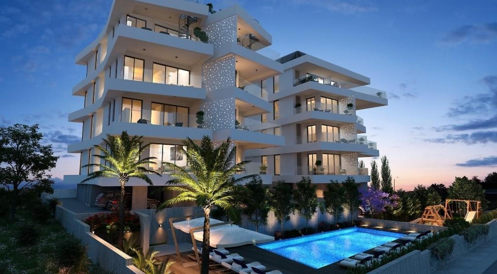 New 3 Bedroom Apartment in a Contemporary Building in Germasogeia - 1