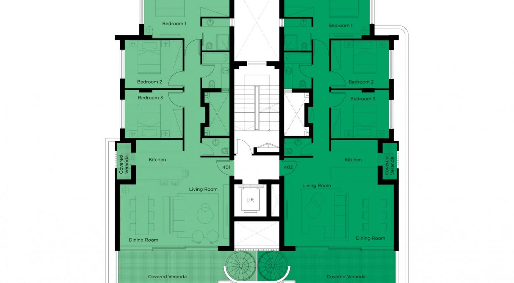 New 3 Bedroom Penthouse in the Town Centre  - 8