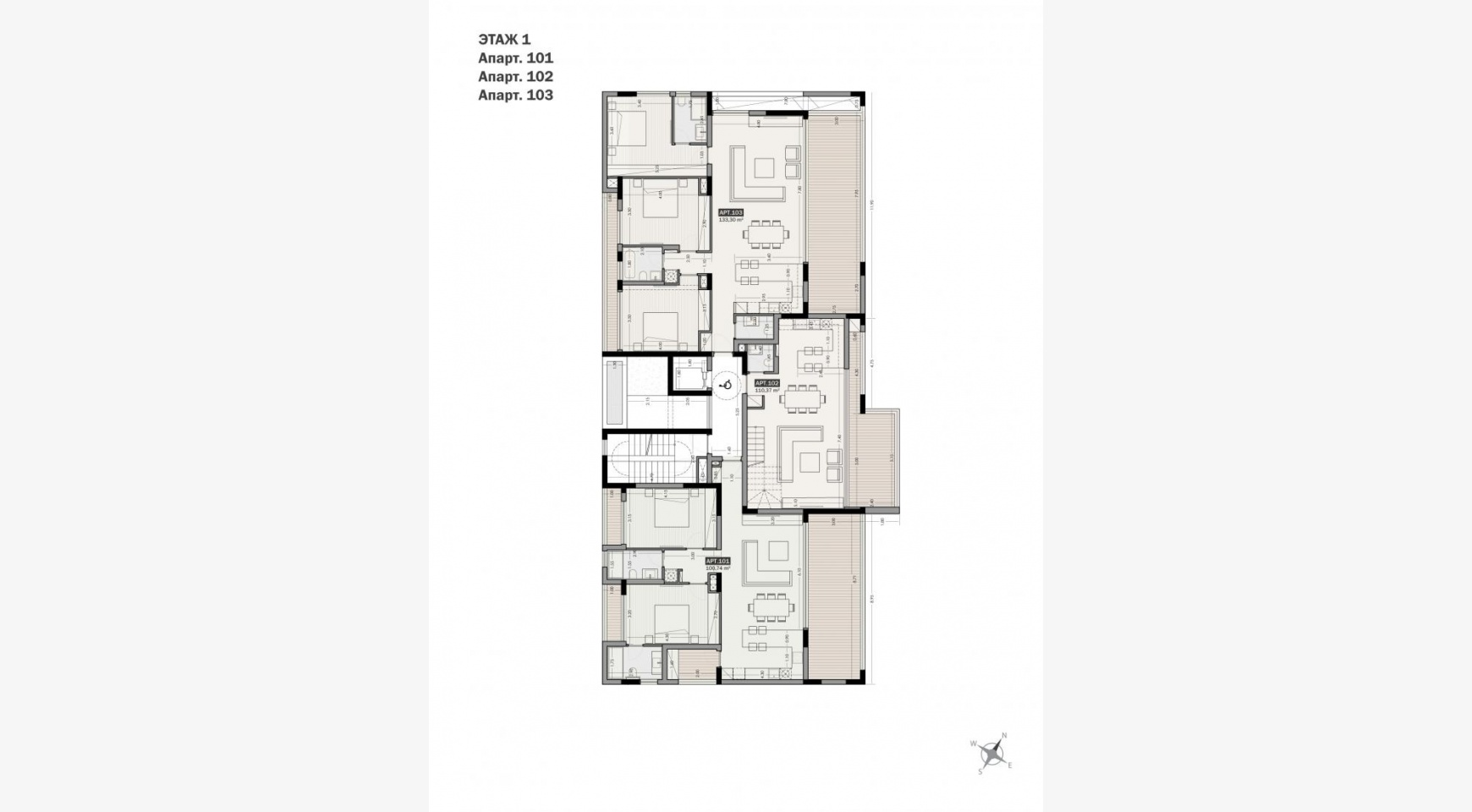 Parkside Residence. Spacious 2 Bedroom Apartment 101 in the Tourist Area - 21