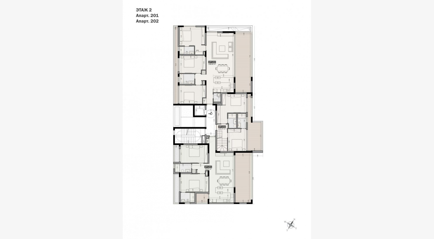 Parkside Residence, Apt. 202. 3 Bedroom Apartment within a New Complex in the Tourist Area - 32