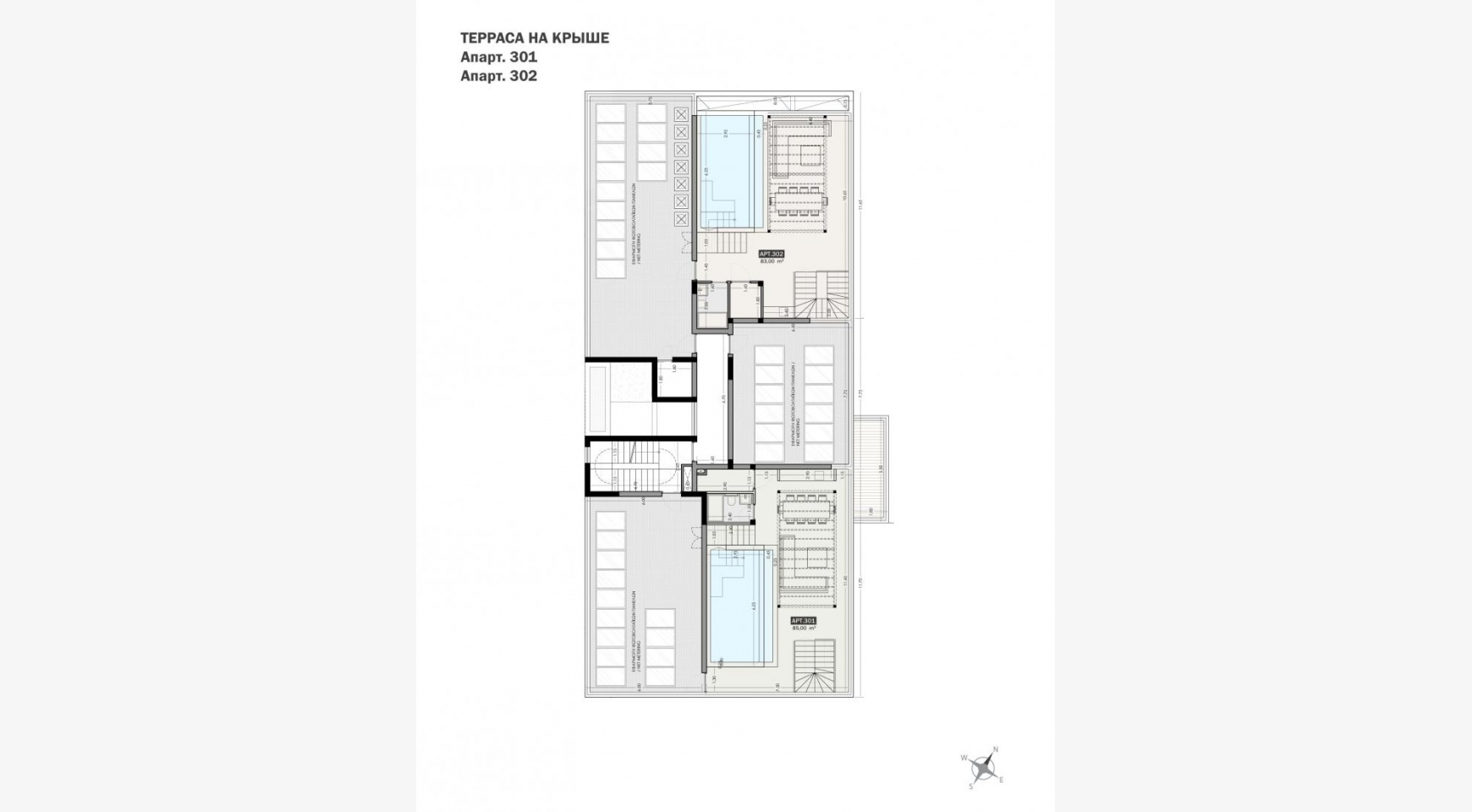 Parkside Residence, Apt. 301. 3 Bedroom Penthouse within a New Complex in the Tourist Area - 32